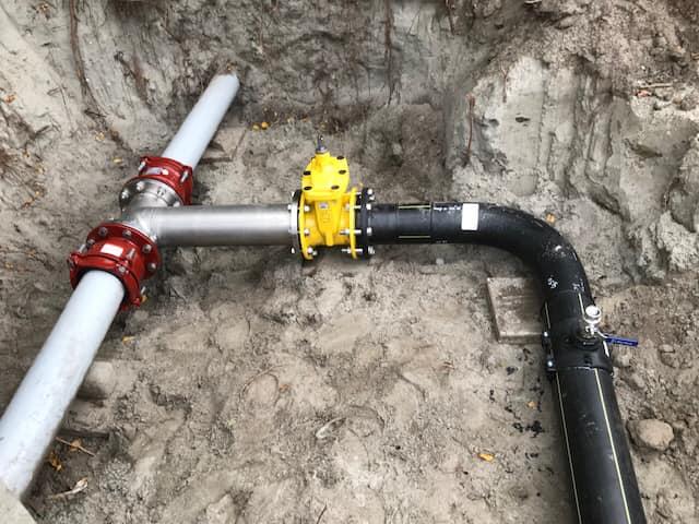 Samenstellen en aansluiten gasleiding op de RWZI in Alkmaar